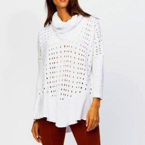 XCVI Reed cowl tunic sweatshirt | XL | EUC